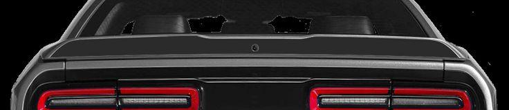 Dodge Challenger 2015 Rear Spoiler Blackout Decal