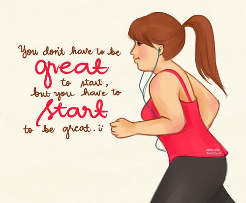 sometime starting an exercise program is the hardest step..but then it becomes a habit!