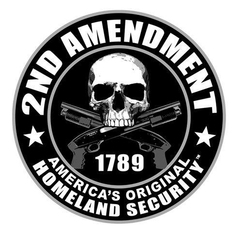 """2nd Amendment Round Helmet Sticker- 3"""""""