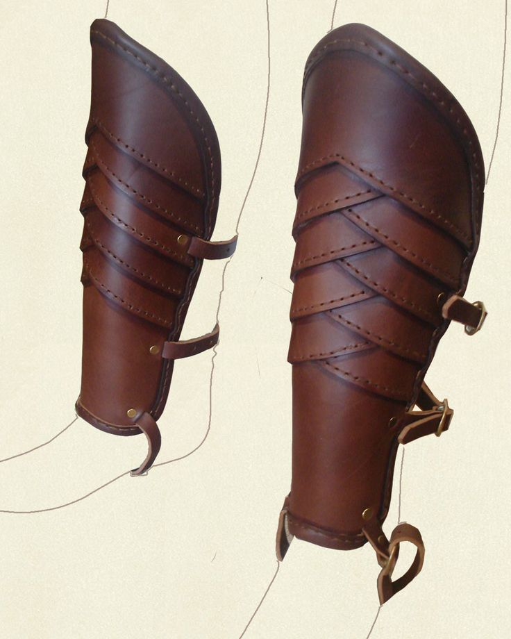 leather greaves