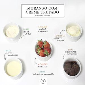 A receita de hoje é de pai para filha e o sabor inigualável, claro! Morango com creme trufado para uma sobremesa divina!