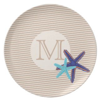 Monogram Party Plate