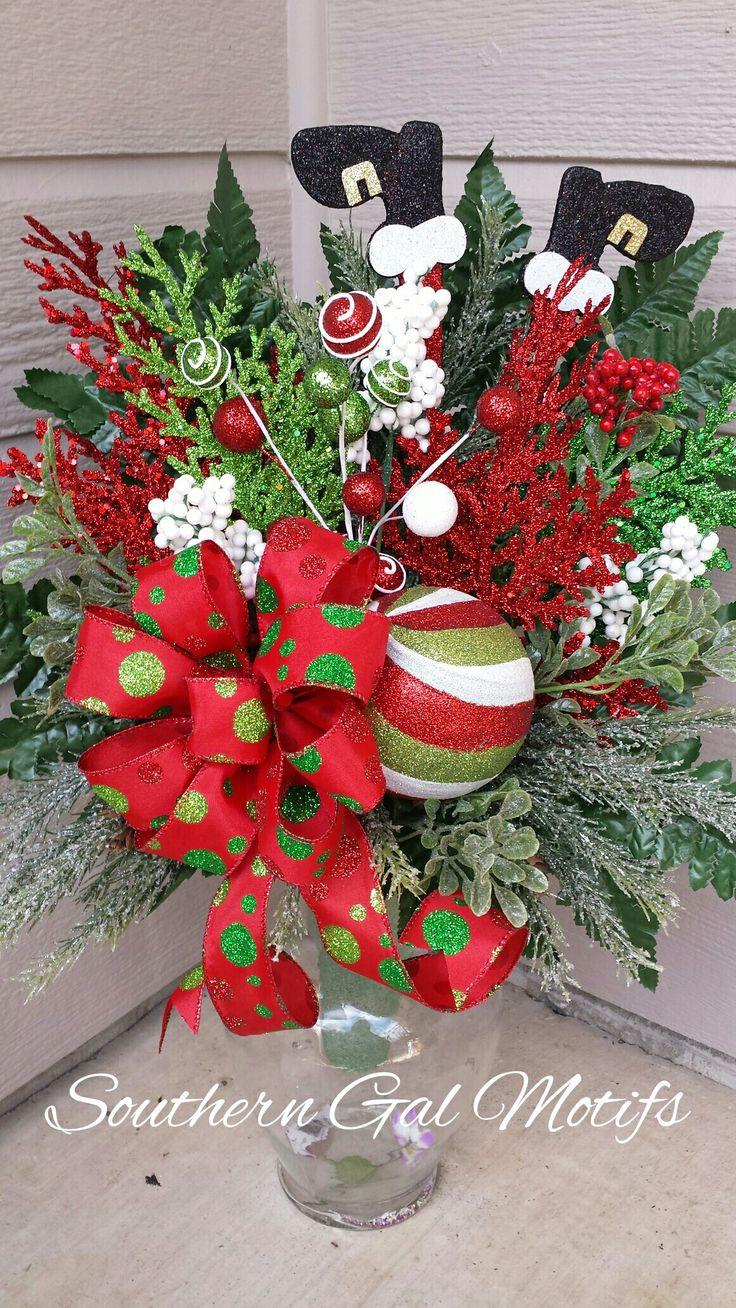 Christmas Floral Arrangement! #southerngalmotifs