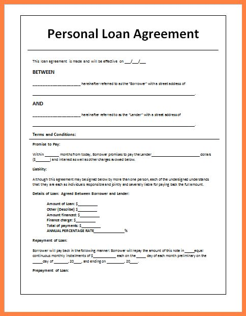 5 Sample Loan Agreement Letter Between Friends Purchase