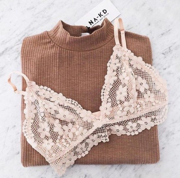 Underwear: floral bralette lace bralette ribbed bra white flowers lace lace bra sweater brown https://bellanblue.com