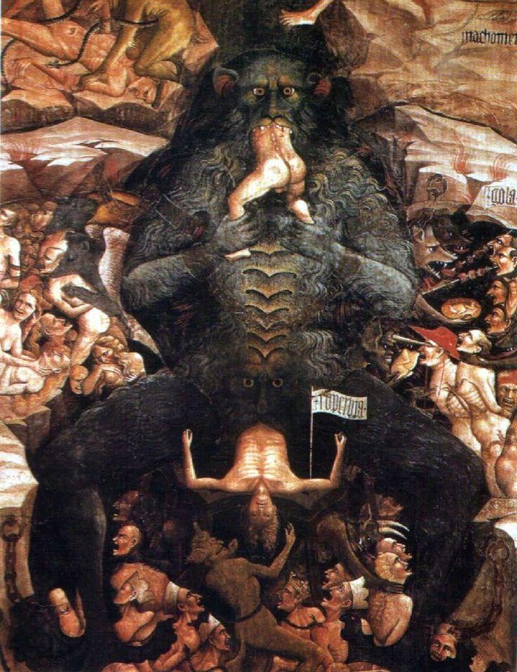 Eaten by Demons in Hell. (Giovanni da Modena, ca. 1410)