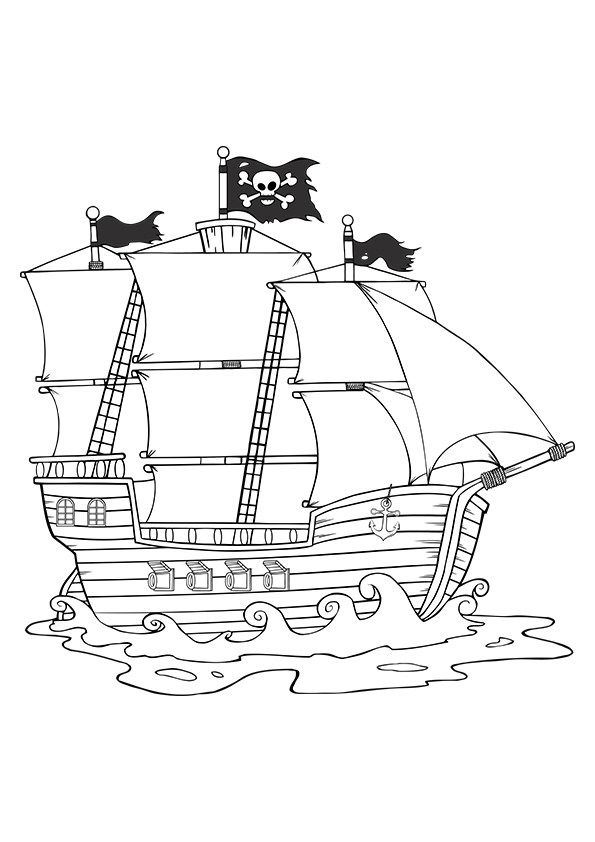 Pirate Ship Coloring Page Buzzle Com Printable Templates Coloring Pages People Coloring Pages Coloring Pages For Boys