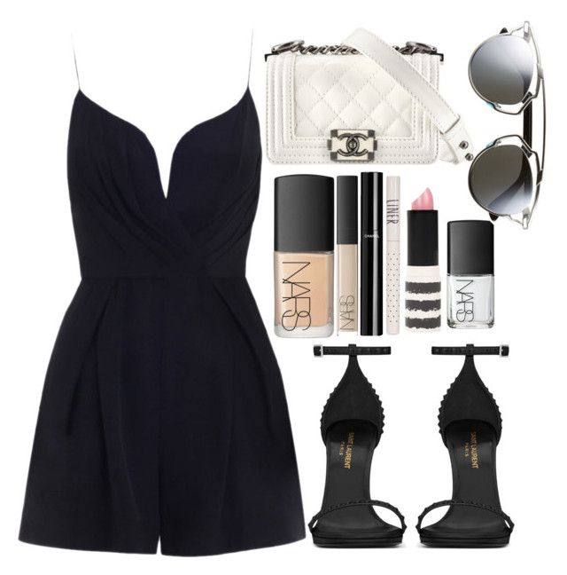 """""""Zimmermann , Laurent and Chanel"""" by camimi1d ❤ liked on Polyvore featuring Zimmermann, Yves Saint Laurent, NARS Cosmetics, Chanel, Topshop and Christian Dior"""