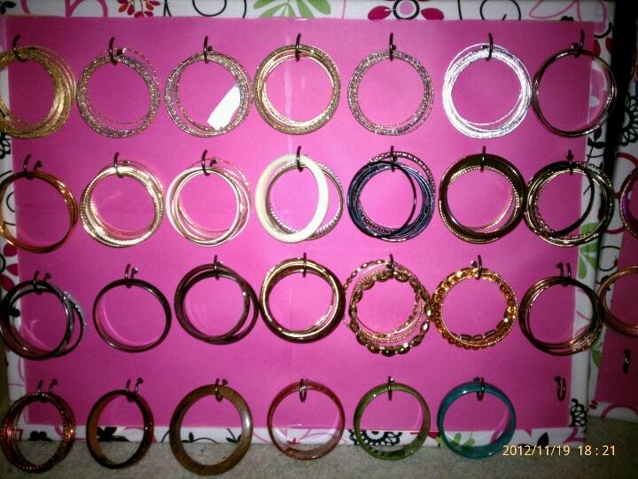 Diy bracelet holder its all about nails pinterest for Bangle organizer diy
