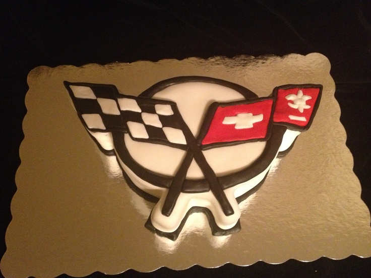 Corvette symbol cake