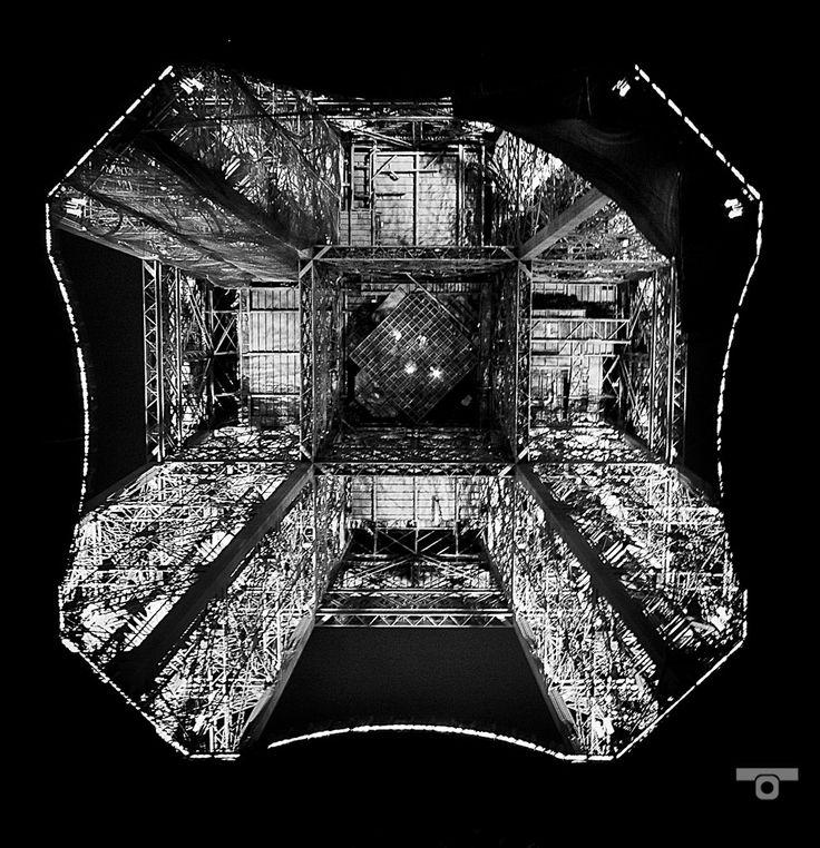 Under the Eiffel Tower, mémoire du paris. #Paris #France #Street Photography #Architecture #Eiffel Tower #BlackandWhite #Abstract