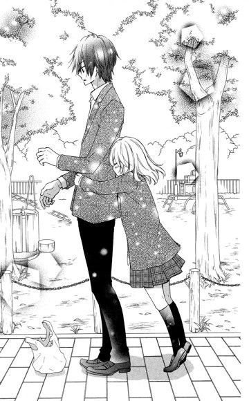 From the manga 'Hiyokoi'  #The Height Difference