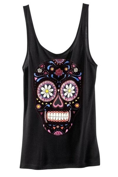 Sugar skull tank. I want!
