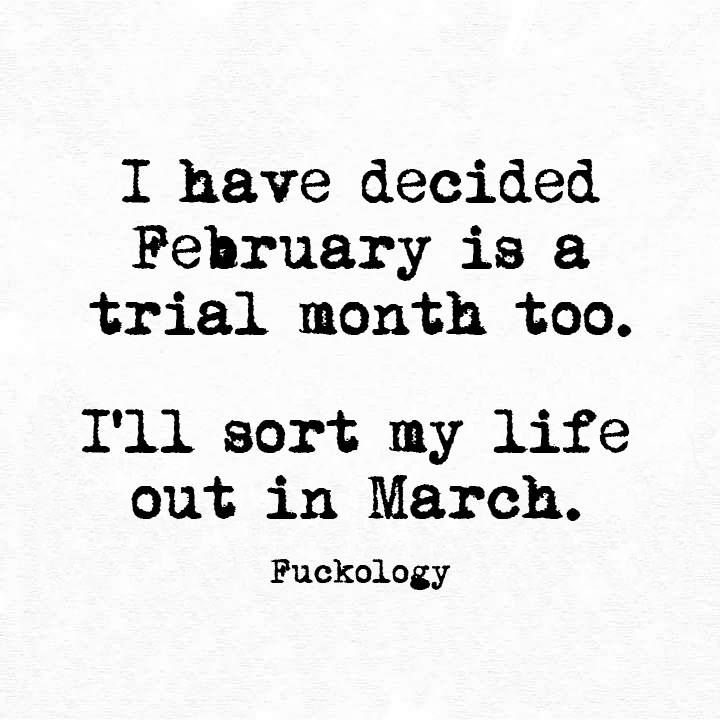 January Oh Well February Trial Month March Do Over Lol Funny Quotes Funny Me Make Me Laugh