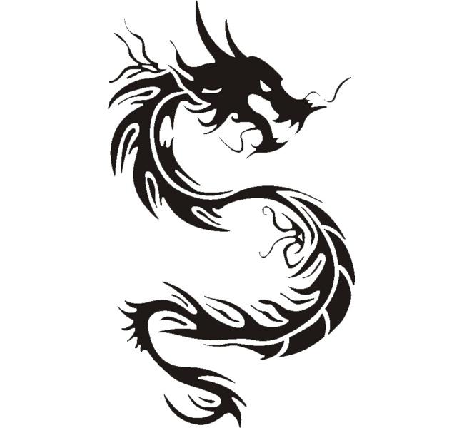 Wallpapers Tribal Animals Animal Tattoo 1024x1024: Tribal Angry Dragon Tattoo