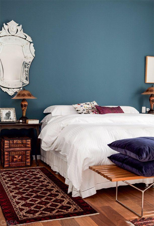 10 quartos de casal que apostam em cores fortes - Casa