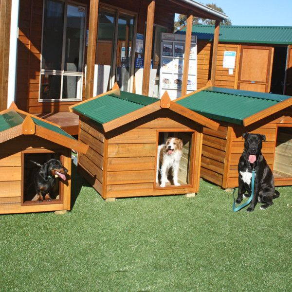 Timber Dog Kennels - wooden pet house