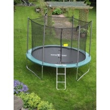 The One 10ft Trampoline with Enclosure Package.... This company supports Cystic Fibrosis Trust....