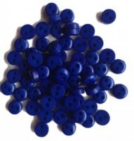 Mini Navy Blue Round Buttons