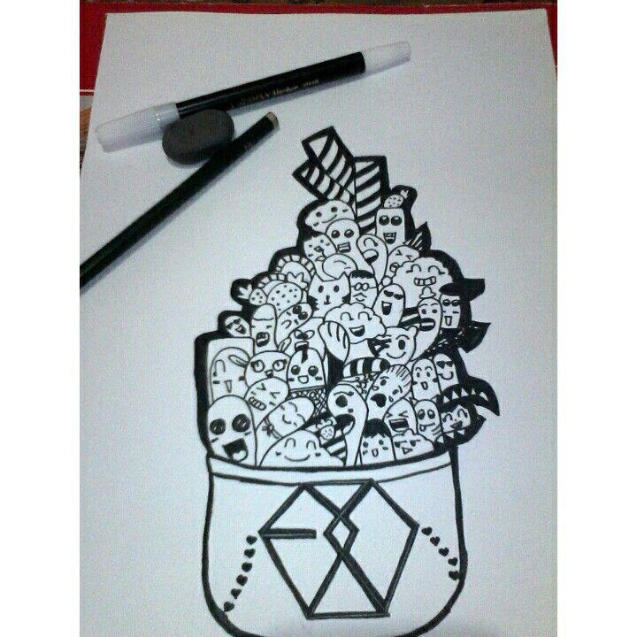 Learn draw cute doodles