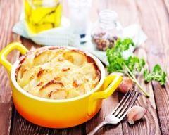 Gratin de pommes de terre au fromage de chèvre