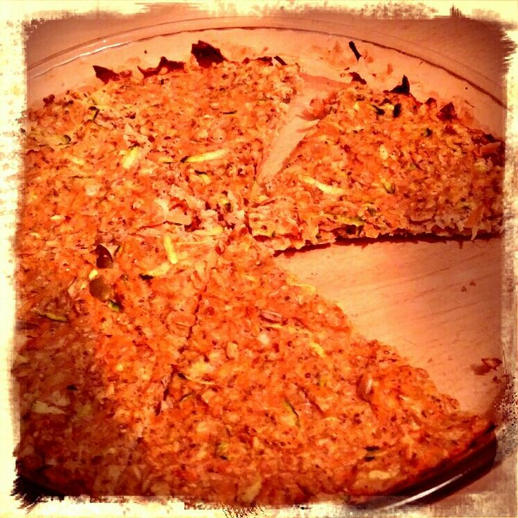 Slimming world eesp extra easy sp Grated carrot Half grated courgette Two beaten eggs Sweetner  Two tablespoons of quark  Cinnamon Heb oats (I've also added chia seeds pumpkin and flax) Place mix into quiche dish and bake 15 mins Slice into six.  Free if using oats as heb  Great warmed up for breakfast with quark and berries xx