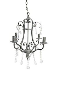 4 ARM WROUGHT IRON CHANDELIER