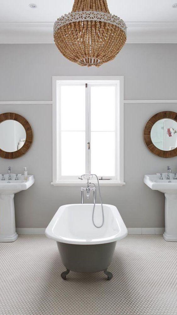 łazienka W Stylu Hampton Wnętrza Interiors The