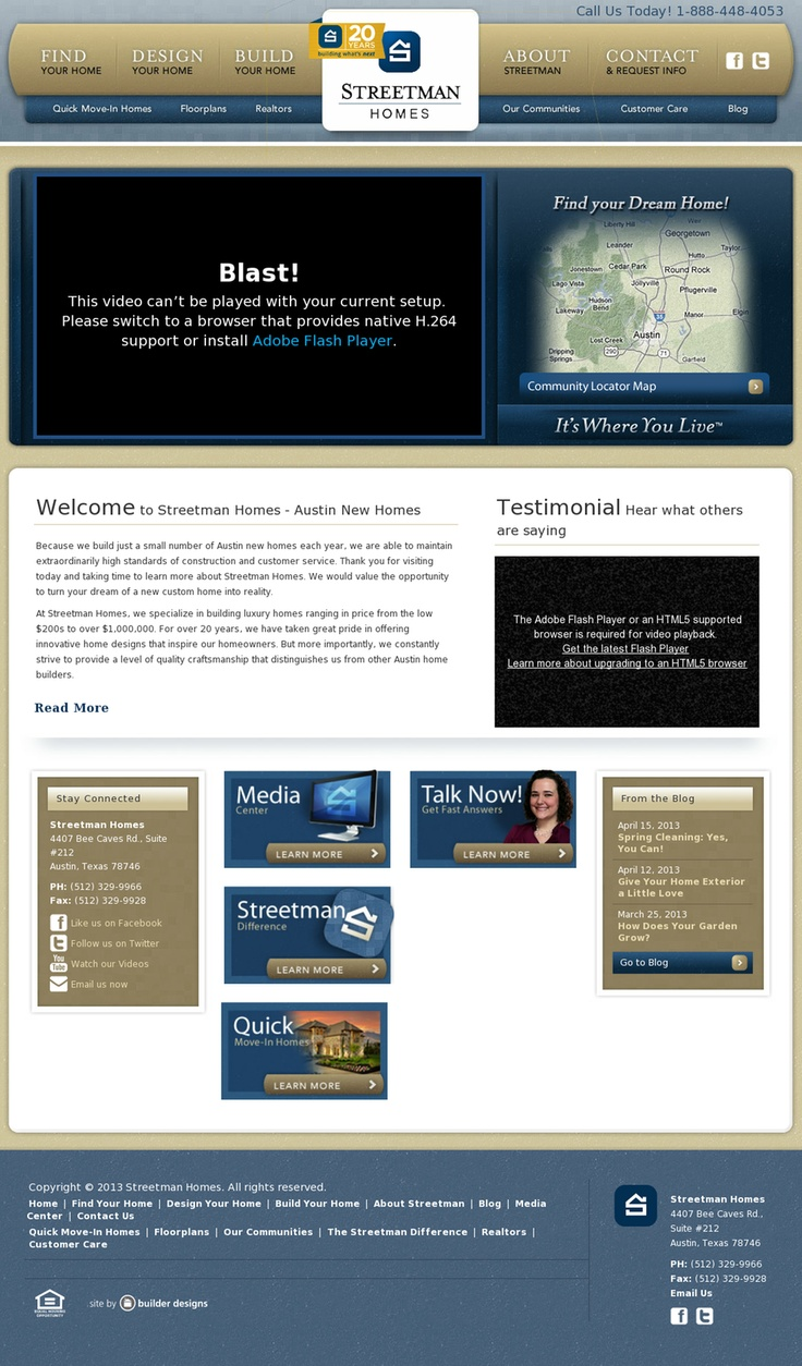 home web design. Streetman Homes  Website Design 68 best web design homes real estate images on Pinterest