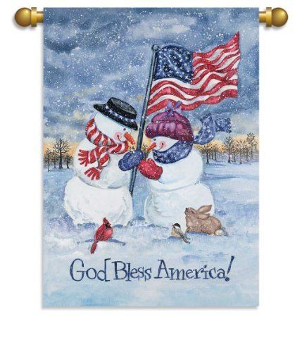 """House Size Flag, 29""""x 42"""", God Bless America by Ashley Gifts. $29.99"""