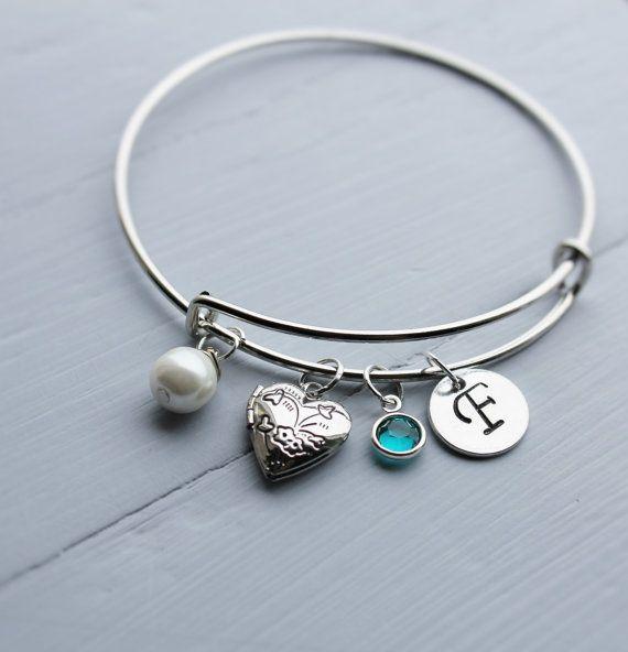 locket bracelet locket jewelry locket bangle by loveherbyalissa