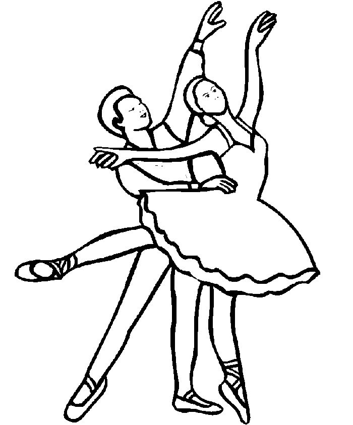 Dibujos para colorear > Profesiones - Danza | Ballet Embroidery and ...