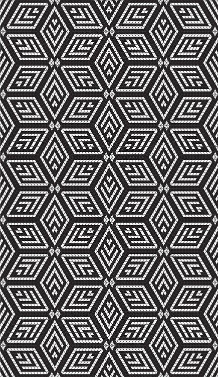 Motif géométrique losanges noir et blanc