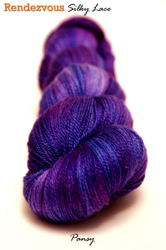 Pansy  Handyed Lace Weight Yarn Superwash BFL/Silk 800 by lprajogo