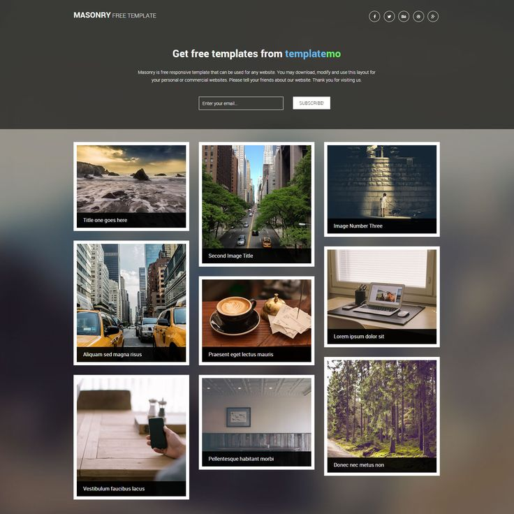246 best html template images on pinterest design web ui ux and masonry is free mobile website template with auto adjusted image gallery for any kind of screen pronofoot35fo Image collections