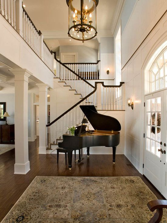 Suzie Mitch Wise Design Two Story Foyer With Grand