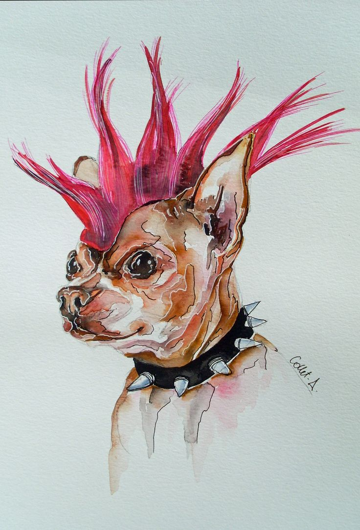 punk Aquarelle folie Collet Delphine