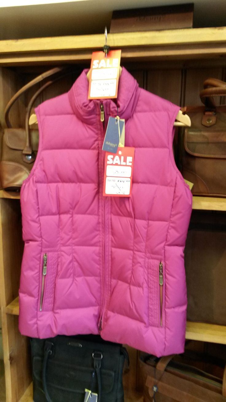 This striking gilet from Dubarry, in cheerful 'Wildberry' pink, is a real bargain. Available in-store from Luck of Louth,
