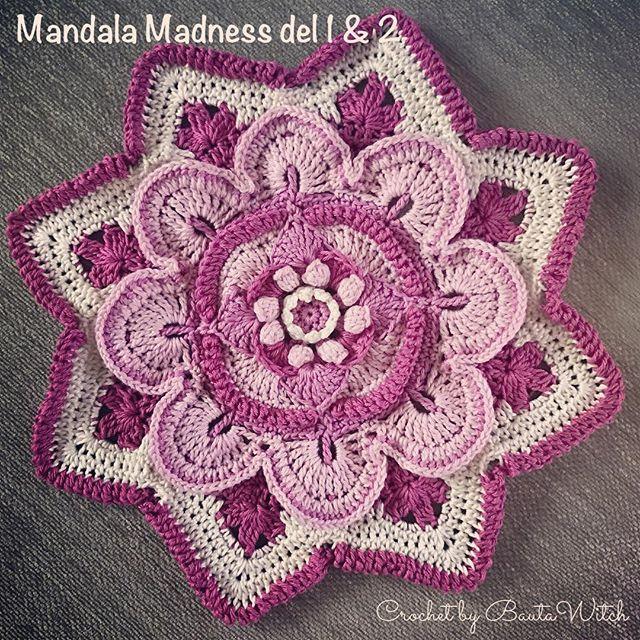 Åh, vad det är roligt att virka Mandela Madness cal 2016! Hjärnan får verkligen jobba för det är många nya maskor att lära sig i varje steg. Ikväll ska jag börja på del 3. Jag virkar i Catania o mönstret är från crystalsandcrochet.com  #mandalamadnesscal2016 #mandala #bautawitch #virka #virkat #virkning #crochet