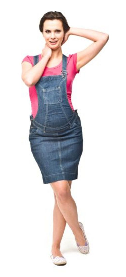 Torelle Maternity Denim Dungaree Dress from Dungarees-Online.com