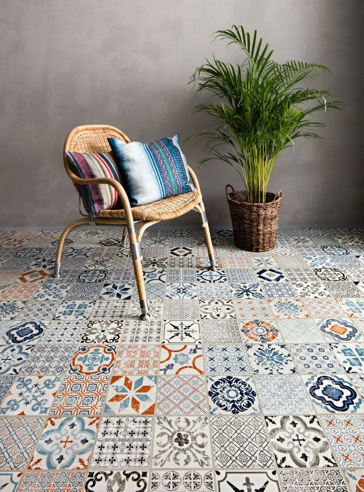 Mosaic Patterned click vinyl flooring from Tarkett - something for the…