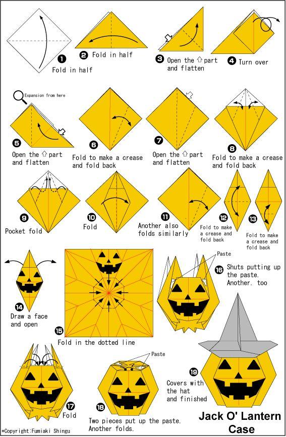 235 best easy origami instructions for kids images on pinterest rh pinterest com Halloween Origami for All Halloween Origami Pumpkin