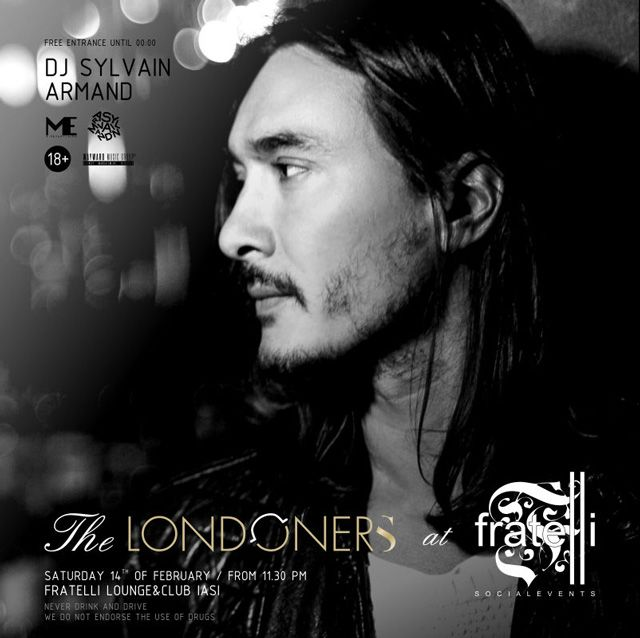 The Londoners @ Fratelli presents DJ Sylvain Armand for the first time in Iasi!
