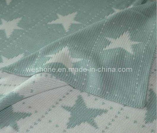 Foto de Manta del algodón, manta hecha punto del algodón ...