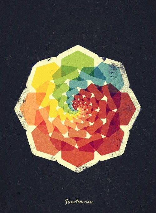 petals: Graphic Design, Logos, Spirals, Colorwheel, Graphicdesign, Graphics Design, Retro Poster, Color Wheels, Rainbows Flower