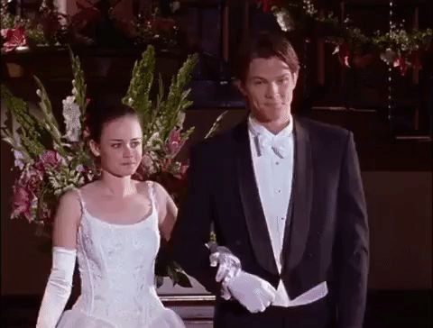 netflix gilmore girls season 2 episode 6 alexis bledel rory gilmore jared padalecki prom dean forester walking down the aisle #humor #hilarious #funny #lol #rofl #lmao #memes #cute