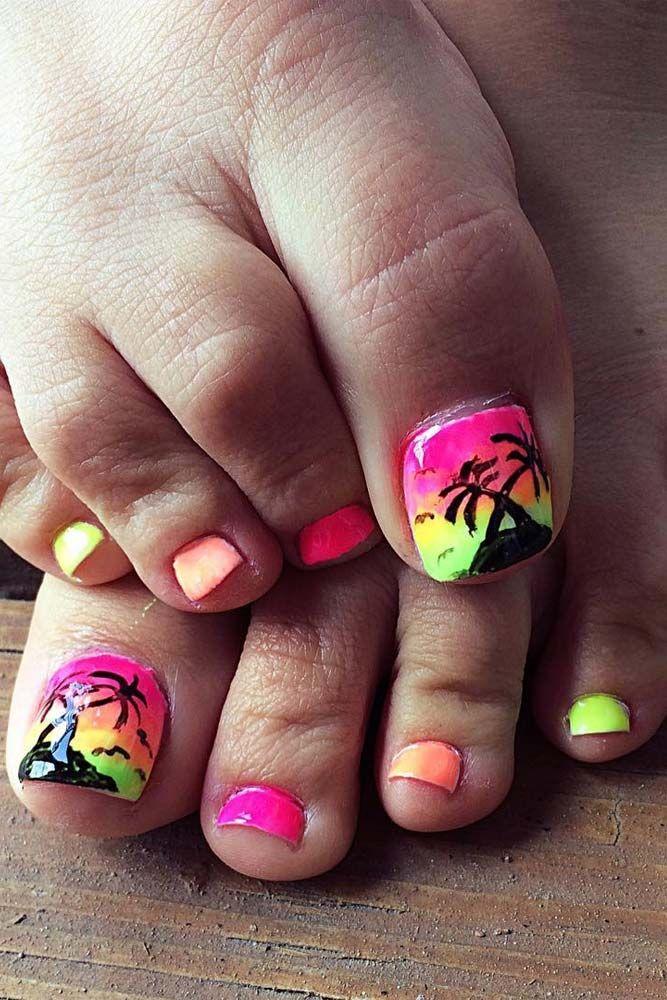 1000+ Ideas About Beach Toe Nails On Pinterest