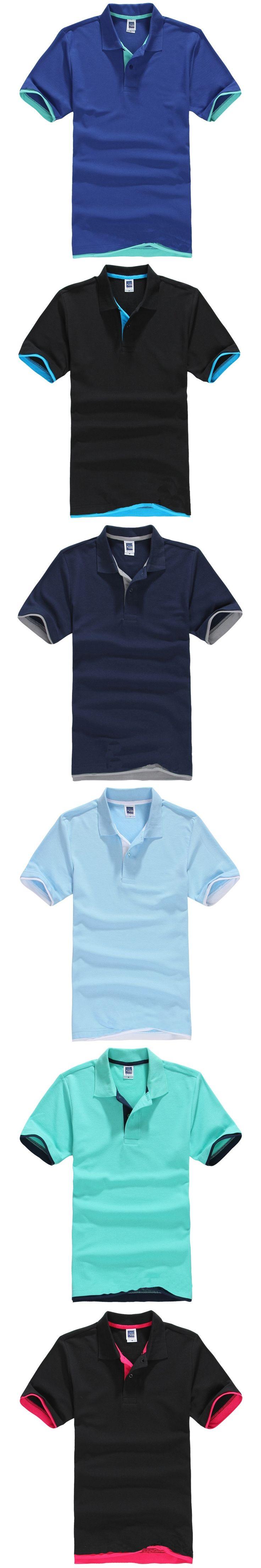 men polo shirts 2015 cheap polo shirts for men polo shirt brands Tops  Cotton men's solid color short-sleeved lapel polo