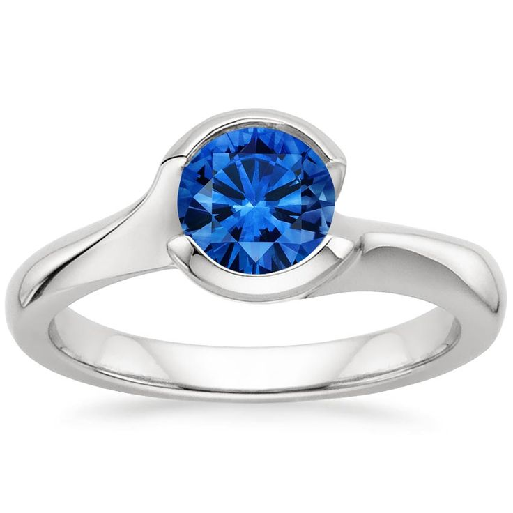 Platinum Sapphire Cascade Ring from Brilliant Earth