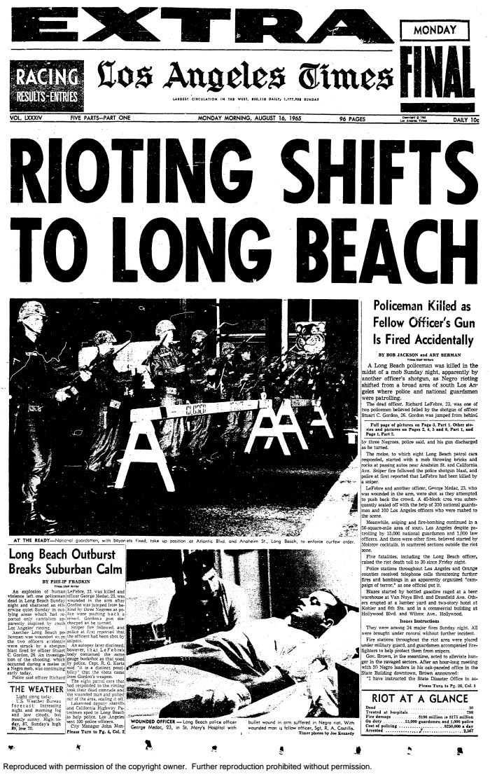 How the L.A. Times covered the 1965 WattsRiots - Documents - Los Angeles Times